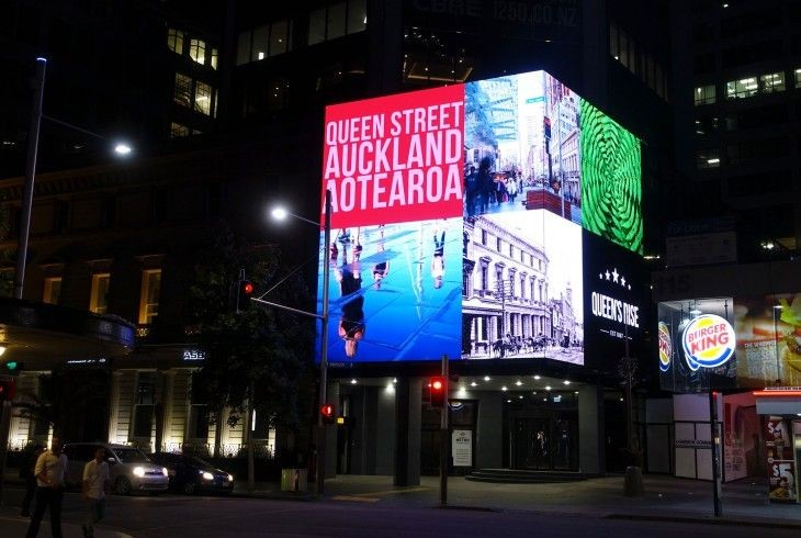 Auckland Aoteroa Square LED building sign