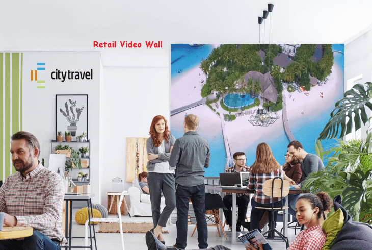 Digital Signs Travel Agent make your pitch perfect with a digital video wall